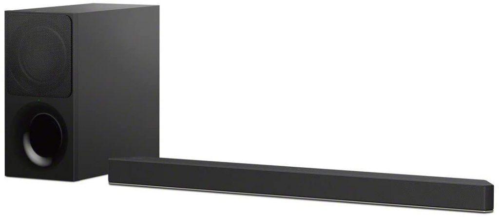 Sony's HT-X9000F soundbar with subwoofer